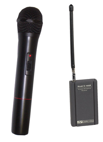 AmpliVox S1622 Wireless Handheld Microphone Kit