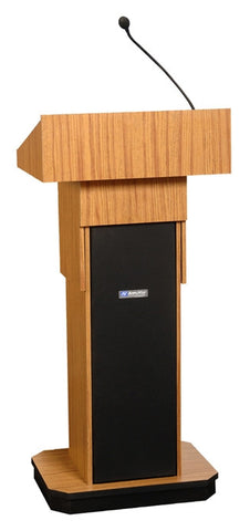 AmpliVox S505A Executive Adjustable Height Column Lectern with Sound System (4 colors)