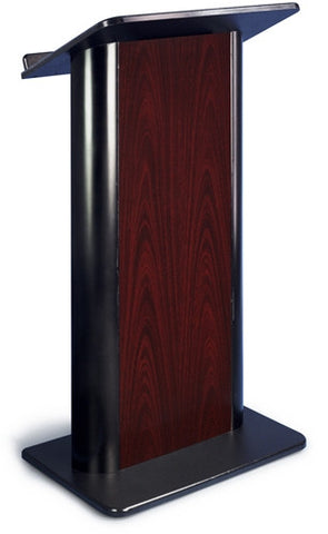 AmpliVox SN3090 Jewel Mahogany Lectern with Black Anodized Aluminum
