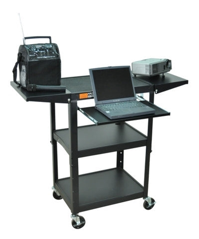 A high quality Image of AmpliVox SN3370 Adjustable Height Metal Cart