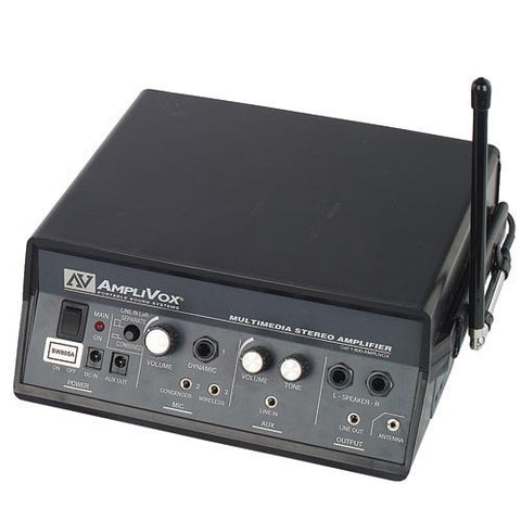 AmpliVox SW805A 16 Channel UHF Wireless Multimedia Stereo Amplifier