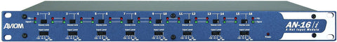 Aviom AN-16/i Input Module provides 16 Balanced Line-Level Inputs to a Pro16 System