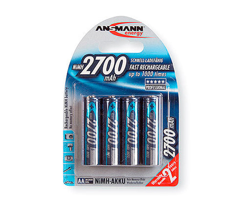A high quality Image of Ansmann 5030842 Mignon NIMH Rechargeable Battery AA 2700mAh - Pack of 4