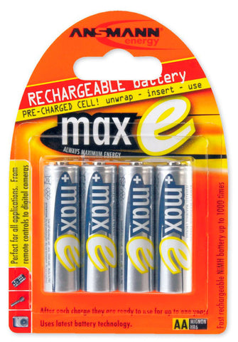 Ansmann MAX-E AA 2100mAh Rechargeable NiMH Batteries (4-Pack)