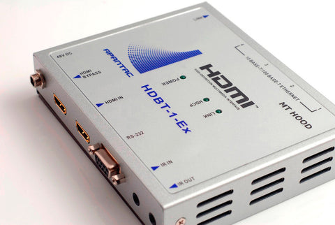 Apantac HDBT-1-Ex HDMI Extender with RS232 - IR - Ethernet Hub & POE over CAT5e / CAT6