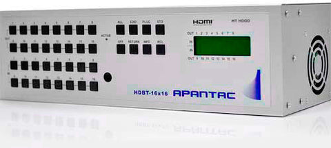Apantac HDBT-16x16 16x16 HDMI Matrix Switch with CAT5e / CAT6 Output Extenders