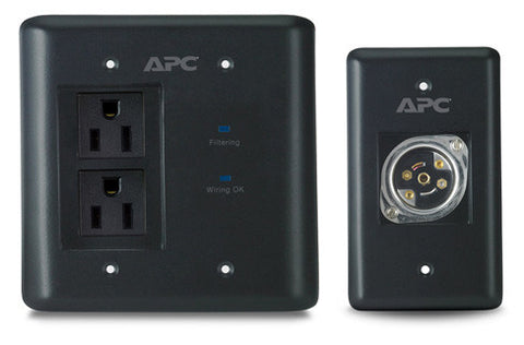 A high quality Image of APC INWALLKIT-BLK AV In-Wall Power Filter and Connection Kit - Black