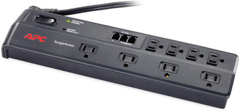 APC P8T3 Home/Office Surge Protector/ 8 Outlet/ Phone Line with Splitter