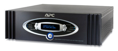 APC S10BLK AV Black 1kVA S Type Power Conditioner with Battery Backup 120V