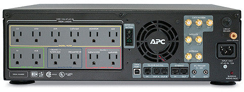 APC AV Black 1.5kVA S Type Power Conditioner with Battery Backup 120V