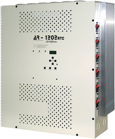 Lightronics AR-1202RTC 12 Channel 2400W Architectural Wall Mount Dimming System