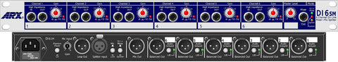 ARX DI-6-SM Changes from 6 Direct Boxes and Mixer to a 6 Way Splitter