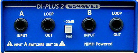 ARX DI-Plus-2 RC Internal Nimh Rechargeable Stereo Direct Box