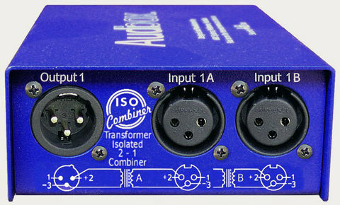 ARX IC-1 Audibox Iso Combiner Duo Transformer Two Sources Into One XLR