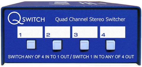 A high quality Image of ARX QS-1 Quad Channel 4x1 or 1x4 Stereo Audio Switcher Q-Switch