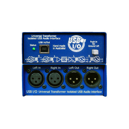ARX USB-3 Audibox USB I/O Balanced Stereo XLR Inputs & Outs USB DI Box