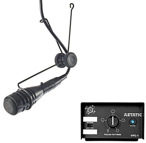 A high quality Image of Astatic 1600VP Continuously Variable Pattern Condenser Hanging Microphone System