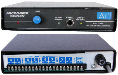 A high quality Image of ATI Audio DA1000 1X8 Audio Distribution Amplifier (Term Strip I/O)