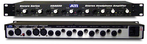 ATI Audio HDA600 6-Ch Stereo Headphone Amplifier with Cue & Mic Inputs