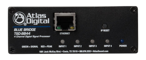 Atlas Sound TSD-BB44 4 Input / 4 Output DSP Audio Processor