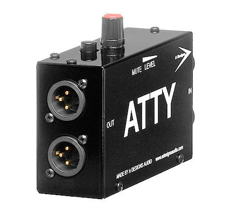 Audio Level Control Box With XLR IN/Out and Mute Button