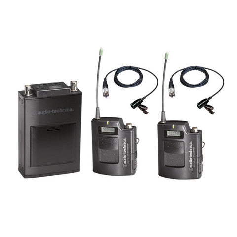 AT 1800 Series Camera-mount UHF Wireless Systems (Combo Lav & Plug In)