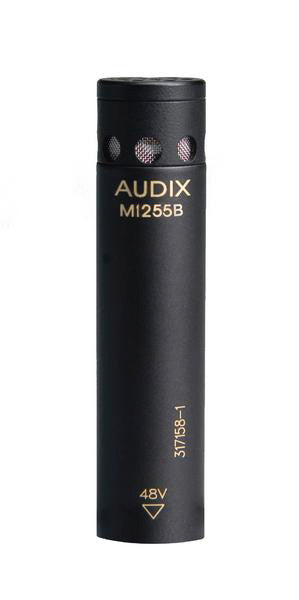 Audix M1255B-O Miniaturized High Output Condenser Microphone for Distance Miking - w/Omni Directional Capsule