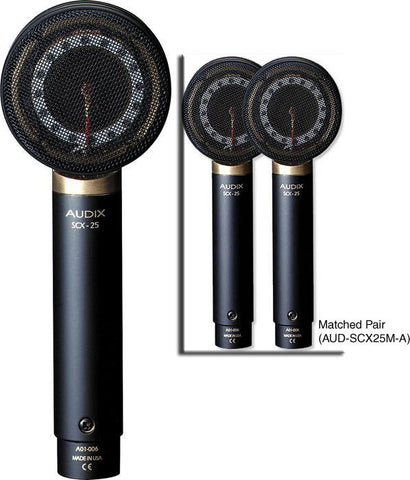 Audix SCX-25 Condenser Microphone - Matched Pair - Plus or Minus 1 dB