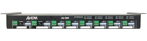 Aviom AV-M8 8-Channel Mic-Level Input Module