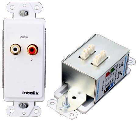 Intelix AVO-A2-WP110 Stereo Audio over Twisted Pair Wallplate