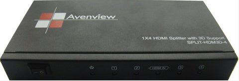 Avenview SPLIT-HDM3D-4 4 Port HDMI 1.3 Splitter with 3D Support
