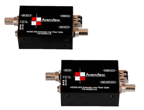 Avenview FO-HDSDI-L-SET HD-SDI Over LC Multimode Fiber Extender with Loop-out