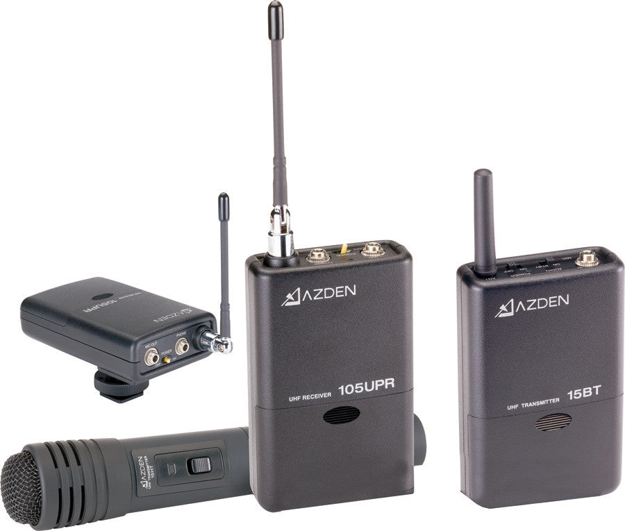A high quality Image of Azden 105ULH 92-Channel UHF Lavalier/Handheld Combo Wireless System