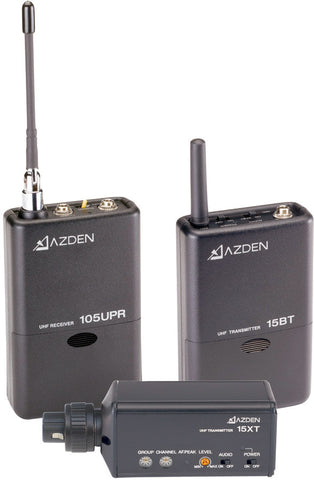 A high quality Image of Azden 105ULX 92-Channel UHF Lavalier / XLR Snap-In Combo Wireless Mic System