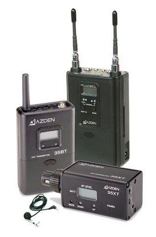 Azden 330ULX Dual-Channel UHF Body-Pack/Plug-in Combo System