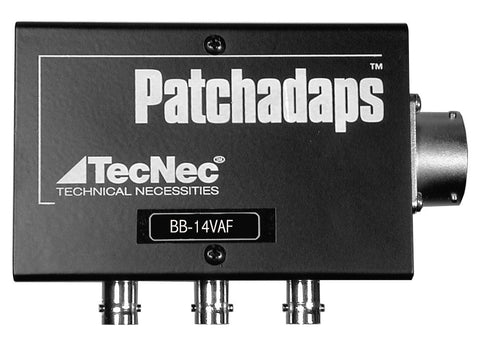 TecNec 14-Pin Female Breakout Box Patchadaps A/V In/Out