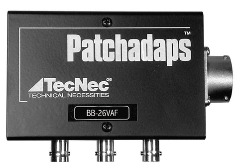 TecNec 26-PIN Female Breakout Box Patchadaps A/V In/Out