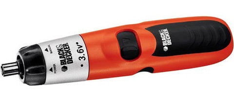 Black & Decker 9074CTN 3.6 V Cordless Screwdriver with Integrated Battery Charger