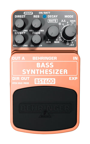 Behringer BSY600 Ultimate Bass Synthesizer Effects Pedal