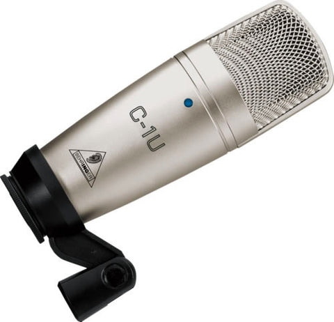 Behringer C1U Studio Condenser USB Microphone with Audacity Software