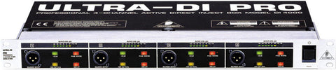 Behringer ULTRA-DI PRO DI4000 Active 4-Channel DI Box