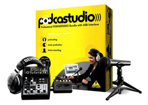 A high quality Image of Behringer - Professional PODCASTUDIO Bundle with USB Interface