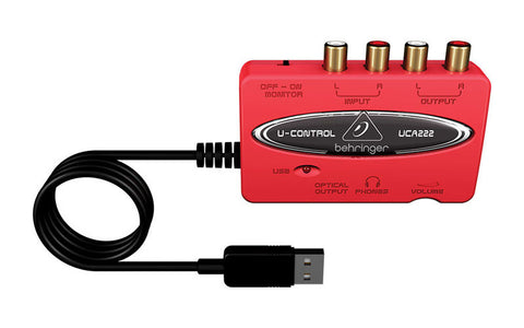 Behringer U-Control UCA222 Ultra-Low Latency 2 In/2 Out USB
