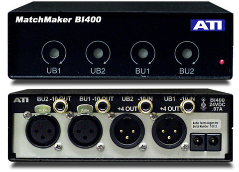 ATI Audio BI400 4 CH Bi-Directional Balanced to Unbalanced Converter