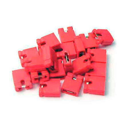 Bittree 382811-9 Programmable Series Shunts (Red) 100 Pack