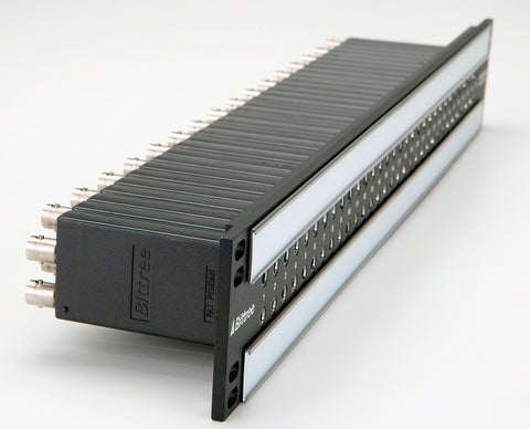 A high quality Image of Bittree B96DC-FNABH/E3 E3 2x48 1.5RU Front Programmable TT Audio Patchbay