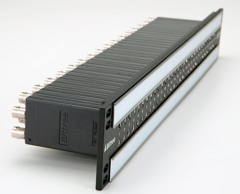A high quality Image of Bittree B96DC-FNALT/E3 E3 2x48 2RU Front Programmable TT Audio Patchbay