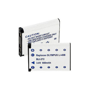 Empire Scientific BLI-272 Lithium Ion Olympus Equivalent Li40B 660mAh