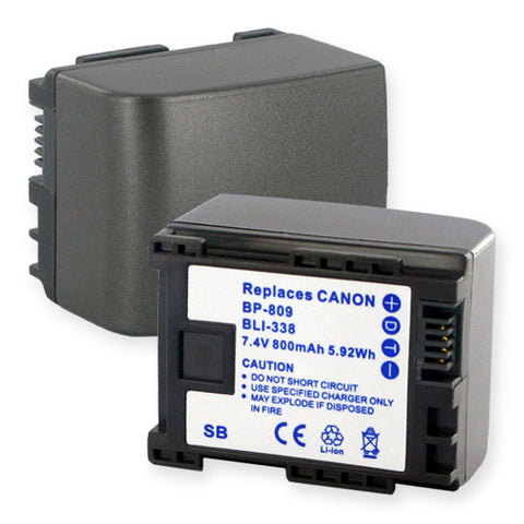 Canon BP-827 7.4V 2400mAh LION Battery Replacement