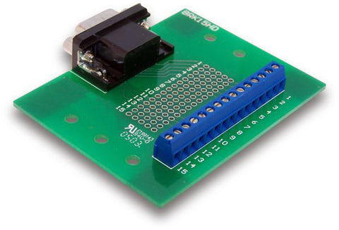 15-Pin Male DSUB to Screw Terminal Breakout Board